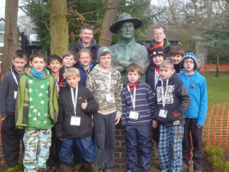 Scouts with Baden-Powell